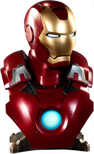 The Avengers: Iron Man Mk VII 1:1 Scale Life Size Bust by Sideshow Collectibles-Sideshow Collectibles- www.superherotoystore.com-Bust Bank - 1