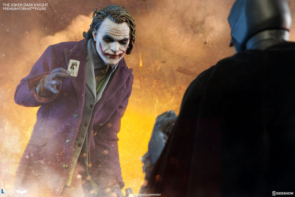 The Dark Knight: Joker 1/4th Scale Premium Format Figure by Sideshow Collectibles-Sideshow Collectibles- www.superherotoystore.com-Statue - 2