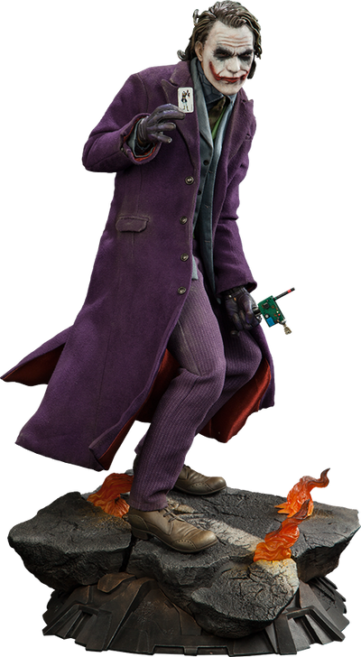 The Dark Knight: Joker 1/4th Scale Premium Format Figure by Sideshow Collectibles-Sideshow Collectibles- www.superherotoystore.com-Statue - 1