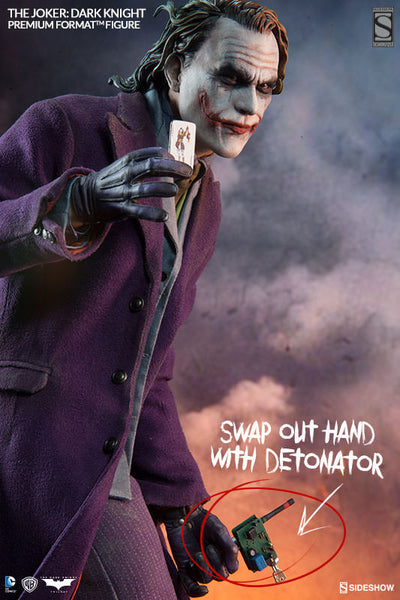 The Dark Knight: Joker 1/4th Scale Premium Format Figure by Sideshow Collectibles-Sideshow Collectibles- www.superherotoystore.com-Statue - 3