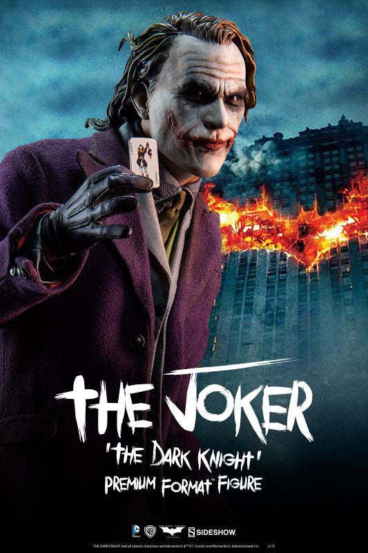 The Dark Knight: Joker 1/4th Scale Premium Format Figure by Sideshow Collectibles-Sideshow Collectibles- www.superherotoystore.com-Statue - 4