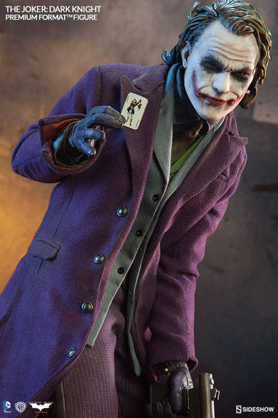 The Dark Knight: Joker 1/4th Scale Premium Format Figure by Sideshow Collectibles-Sideshow Collectibles- www.superherotoystore.com-Statue - 5