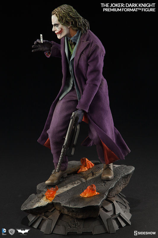 The Dark Knight: Joker 1/4th Scale Premium Format Figure by Sideshow Collectibles-Sideshow Collectibles- www.superherotoystore.com-Statue - 7