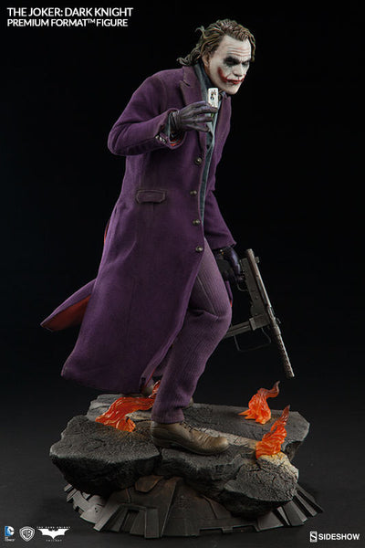 The Dark Knight: Joker 1/4th Scale Premium Format Figure by Sideshow Collectibles-Sideshow Collectibles- www.superherotoystore.com-Statue - 9