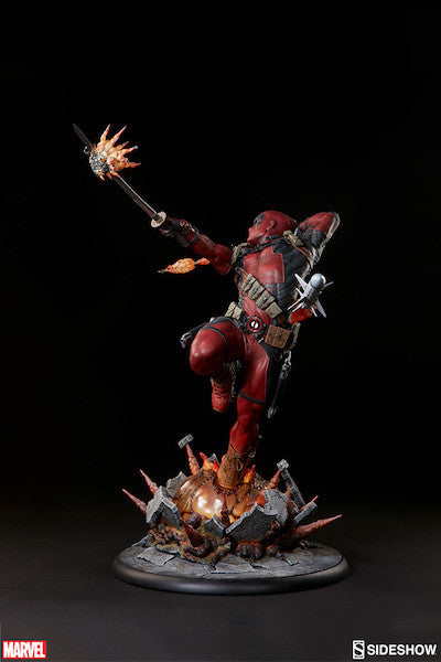 Deadpool Heat-Seeker Premium Format Figure by Sideshow Collectibles-Sideshow Collectibles- www.superherotoystore.com-Statue - 11