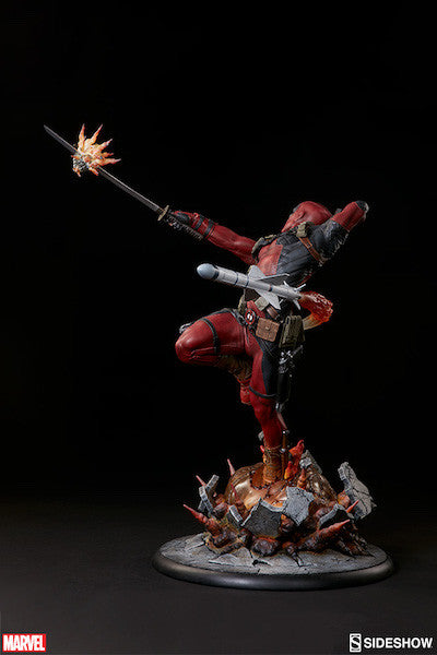 Deadpool Heat-Seeker Premium Format Figure by Sideshow Collectibles-Sideshow Collectibles- www.superherotoystore.com-Statue - 12