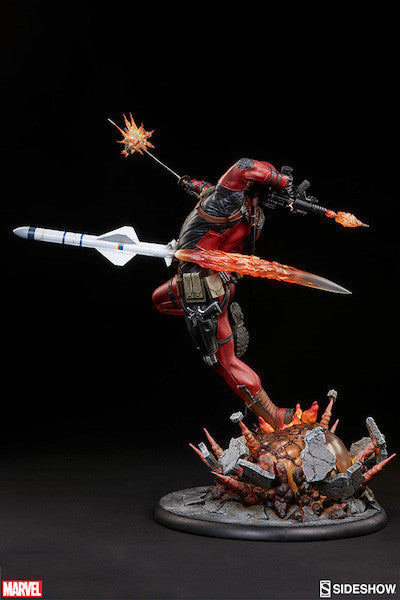 Deadpool Heat-Seeker Premium Format Figure by Sideshow Collectibles-Sideshow Collectibles- www.superherotoystore.com-Statue - 13