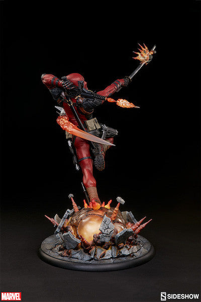 Deadpool Heat-Seeker Premium Format Figure by Sideshow Collectibles-Sideshow Collectibles- www.superherotoystore.com-Statue - 14