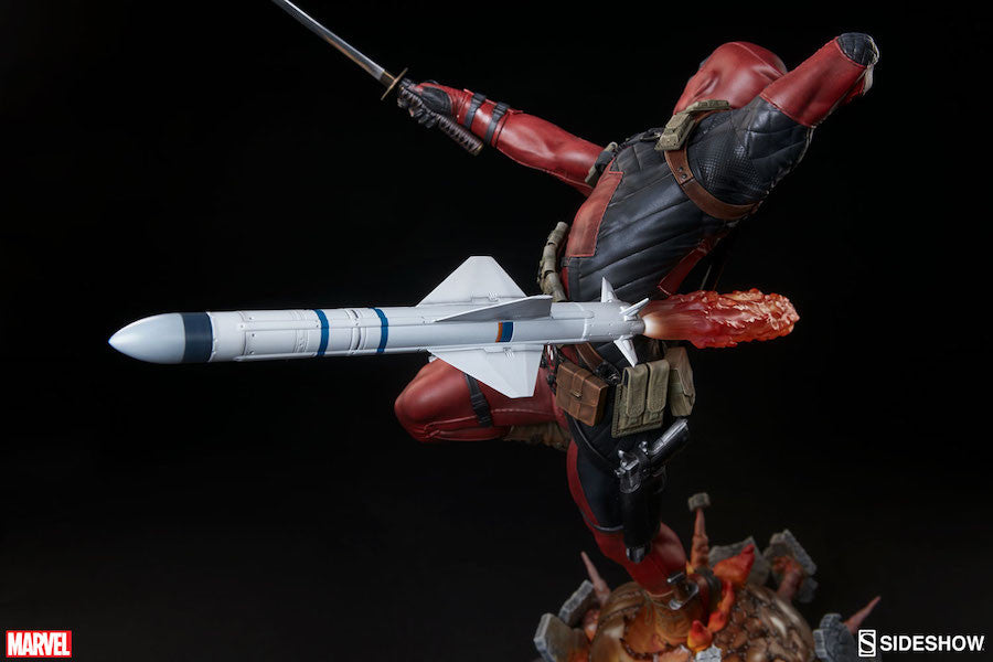 Deadpool Heat-Seeker Premium Format Figure by Sideshow Collectibles-Sideshow Collectibles- www.superherotoystore.com-Statue - 19