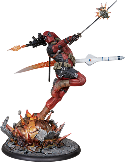 Deadpool Heat-Seeker Premium Format Figure by Sideshow Collectibles-Sideshow Collectibles- www.superherotoystore.com-Statue - 1