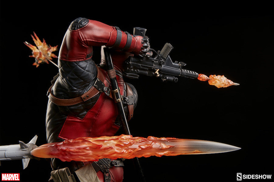 Deadpool Heat-Seeker Premium Format Figure by Sideshow Collectibles-Sideshow Collectibles- www.superherotoystore.com-Statue - 20