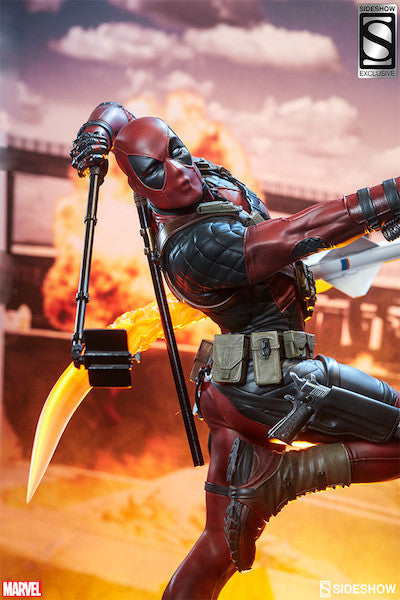Deadpool Heat-Seeker Premium Format Figure by Sideshow Collectibles-Sideshow Collectibles- www.superherotoystore.com-Statue - 2
