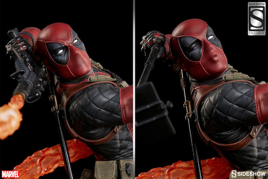 Deadpool Heat-Seeker Premium Format Figure by Sideshow Collectibles-Sideshow Collectibles- www.superherotoystore.com-Statue - 3