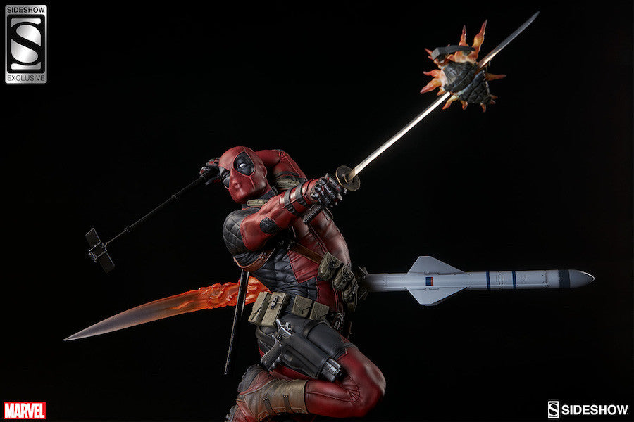 Deadpool Heat-Seeker Premium Format Figure by Sideshow Collectibles-Sideshow Collectibles- www.superherotoystore.com-Statue - 4