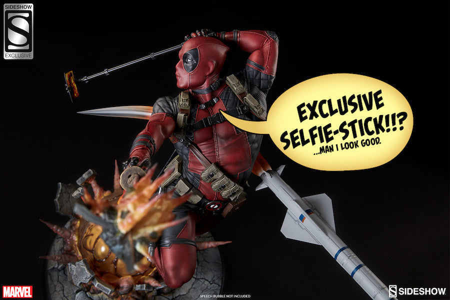 Deadpool Heat-Seeker Premium Format Figure by Sideshow Collectibles-Sideshow Collectibles- www.superherotoystore.com-Statue - 5