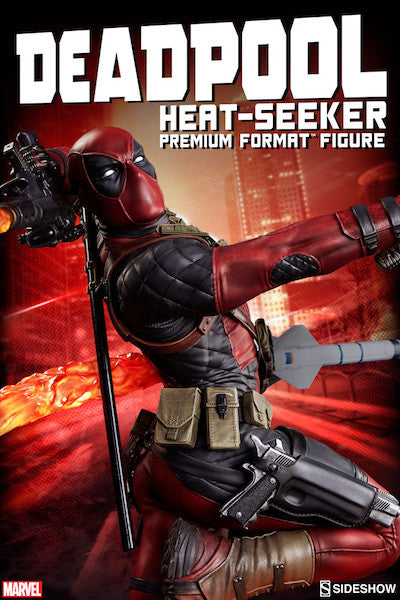Deadpool Heat-Seeker Premium Format Figure by Sideshow Collectibles-Sideshow Collectibles- www.superherotoystore.com-Statue - 7