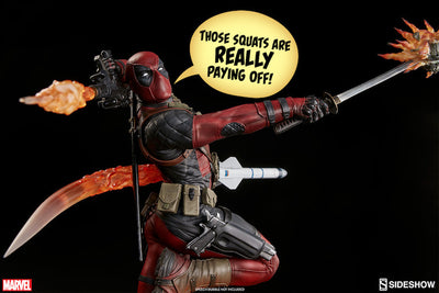 Deadpool Heat-Seeker Premium Format Figure by Sideshow Collectibles-Sideshow Collectibles- www.superherotoystore.com-Statue - 9