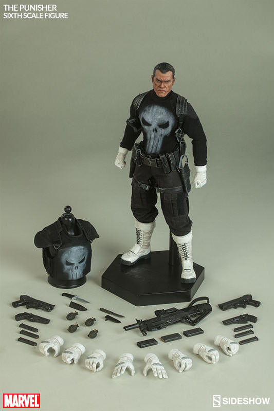 The Punisher 1/6th Scale Action Figure by Sideshow Collectibles-Sideshow Collectibles- www.superherotoystore.com-Action Figure - 10