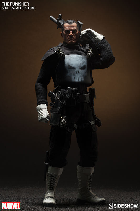 The Punisher 1/6th Scale Action Figure by Sideshow Collectibles-Sideshow Collectibles- www.superherotoystore.com-Action Figure - 6