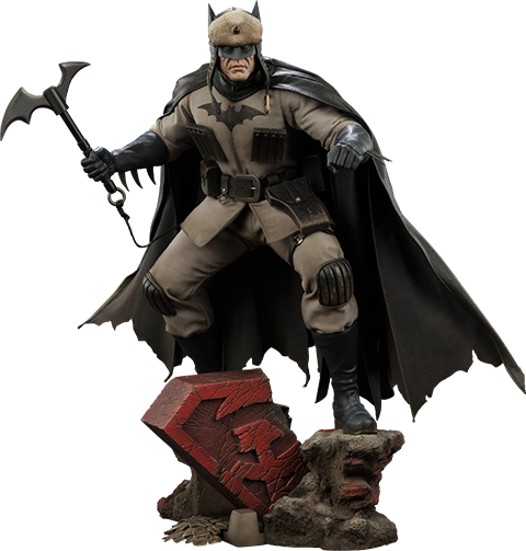 Batman Red Son 1/4th Scale Premium Format Figure by Sideshow Collectibles-Sideshow Collectibles- www.superherotoystore.com-Statue - 1