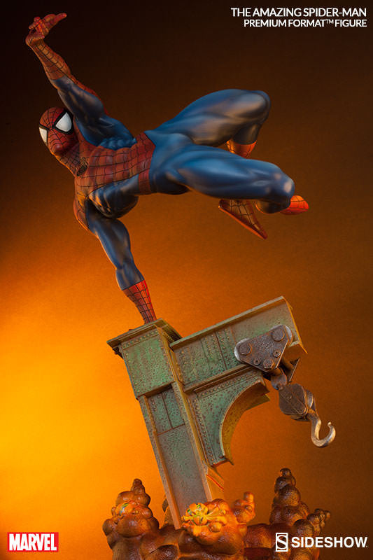 The Amazing Spiderman 1/4th Scale Premium Format Figure by Sideshow Collectibles-Sideshow Collectibles- www.superherotoystore.com-Statue - 2