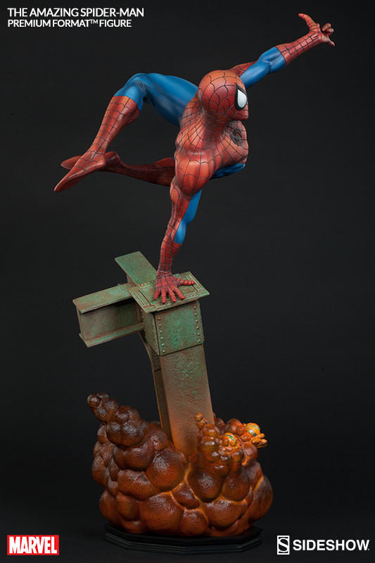 The Amazing Spiderman 1/4th Scale Premium Format Figure by Sideshow Collectibles-Sideshow Collectibles- www.superherotoystore.com-Statue - 4