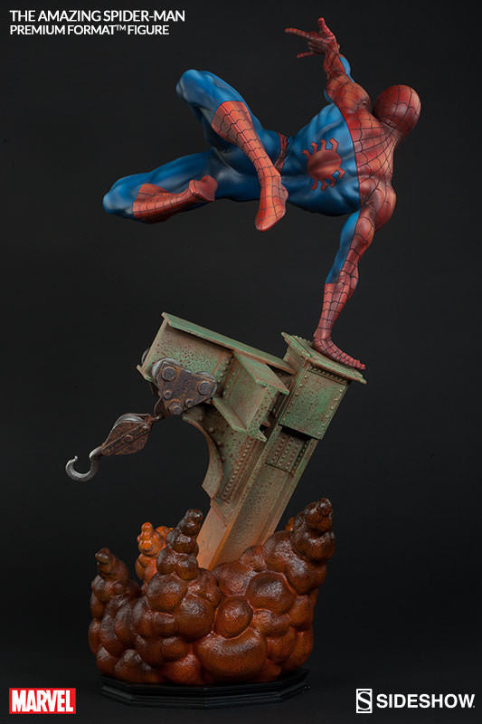 The Amazing Spiderman 1/4th Scale Premium Format Figure by Sideshow Collectibles-Sideshow Collectibles- www.superherotoystore.com-Statue - 6