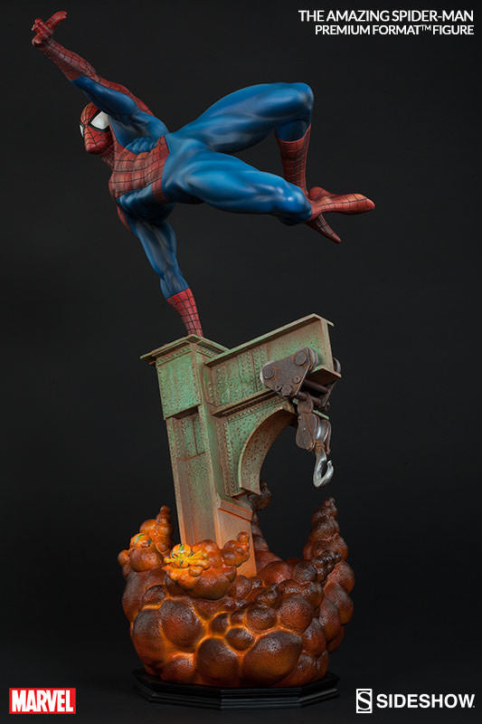 The Amazing Spiderman 1/4th Scale Premium Format Figure by Sideshow Collectibles-Sideshow Collectibles- www.superherotoystore.com-Statue - 5