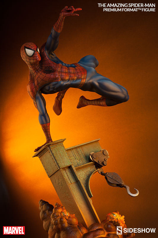 The Amazing Spiderman 1/4th Scale Premium Format Figure by Sideshow Collectibles-Sideshow Collectibles- www.superherotoystore.com-Statue - 3