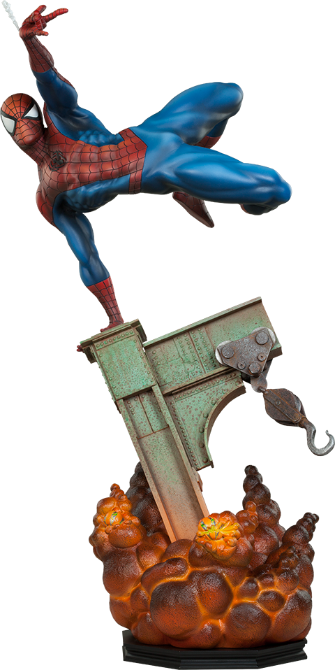 The Amazing Spiderman 1/4th Scale Premium Format Figure by Sideshow Collectibles-Sideshow Collectibles- www.superherotoystore.com-Statue - 1