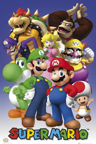 Super Mario Collage Maxi Poster