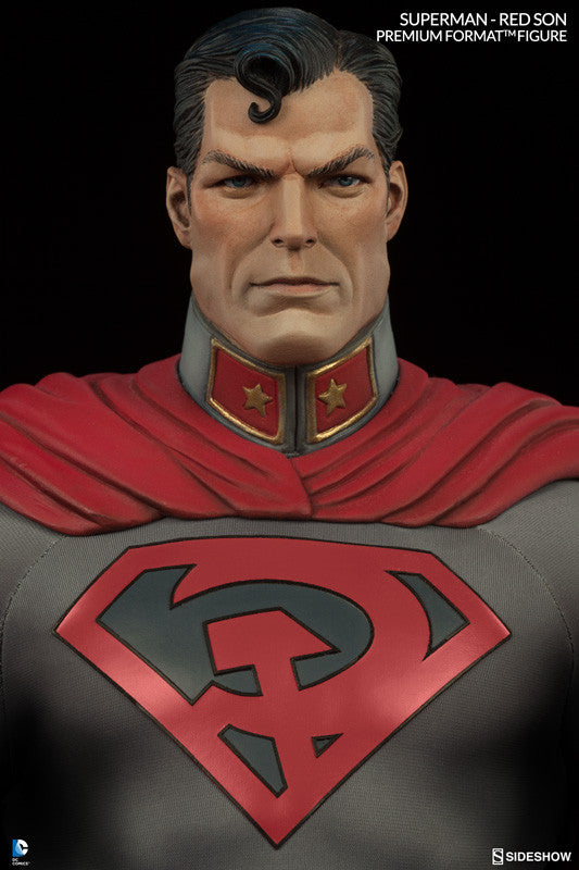 Superman Red Son 1/4th Scale Premium Format Figure by Sideshow Collectibles-Sideshow Collectibles- www.superherotoystore.com-Statue - 1