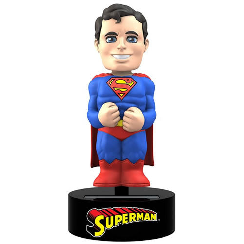 Superman Solar Powered Body Knocker-NECA- www.superherotoystore.com-Bobble Heads