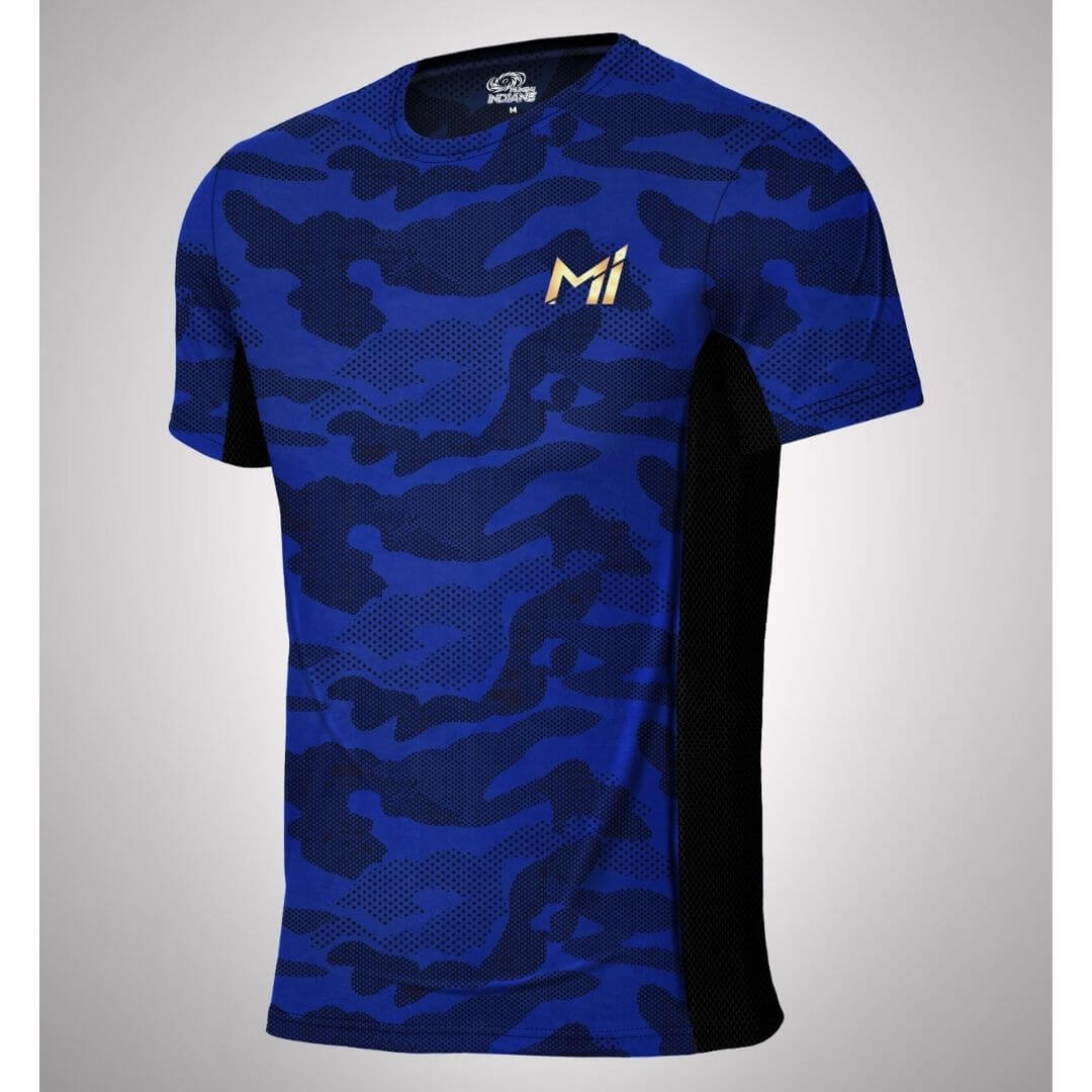 Mumbai Indians Official Camo Print T-Shirt -The Arena - India - www.superherotoystore.com