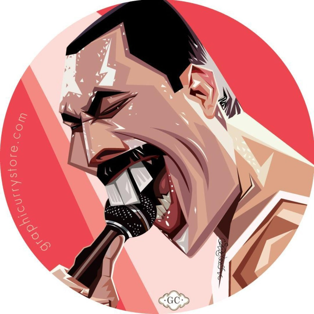 The Singer Badge -Graphicurry - India - www.superherotoystore.com
