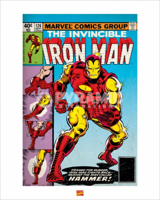 The Invincible Iron Man Comics Art Print by Pyramid-Superherotoystore.com- www.superherotoystore.com-Posters