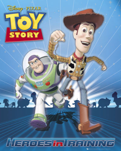 Toy Story - Heroes in Training Mini Poster-Superherotoystore.com- www.superherotoystore.com-Posters