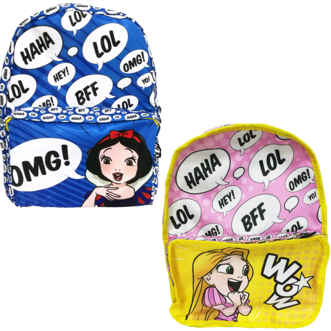 Rapunzel & Snow White Reversible Backpack -My Baby Excels - India - www.superherotoystore.com