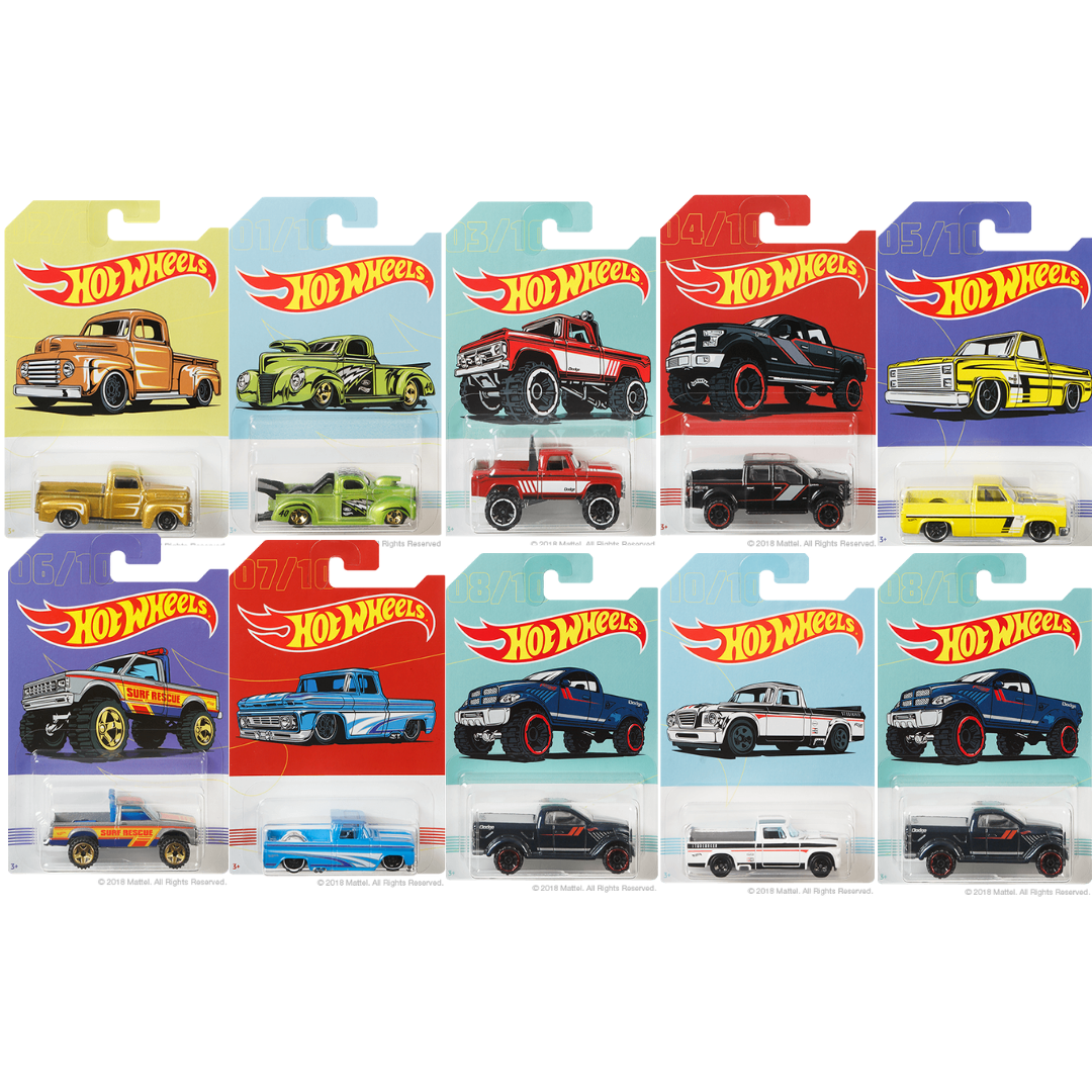 American Pickup Trucks collection 10-Pack  Die-Cast Cars by Hot Wheels