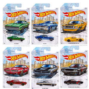 Detroit Muscle Cars Collection 6 Pack Die-Cast Car Set by Hot Wheels