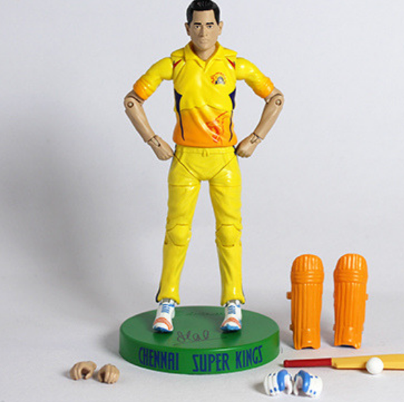 Chennai Super Kings MS. Dhoni Action Figure by Lilliput Hub