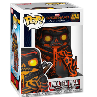Spiderman Far From Home Molten Man Vinyl Bobble-Head by Funko