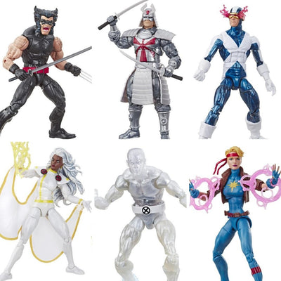 X-Men Retro Marvel Legends Series Set of 6 Figures by Hasbro