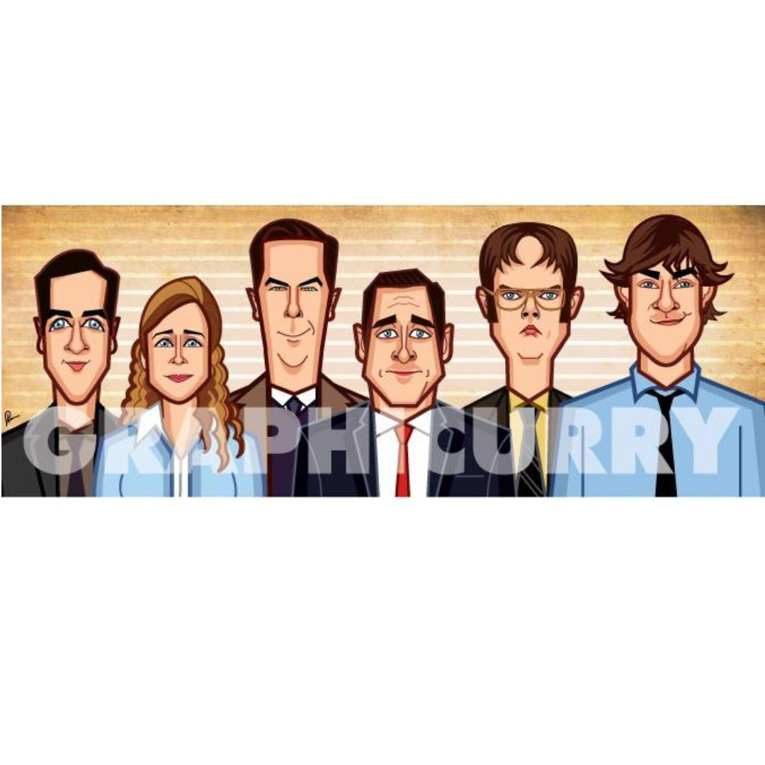 The Office Tribute Wall Art -Graphicurry - India - www.superherotoystore.com