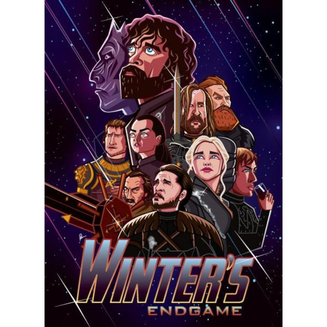 Winter's Endgame Wall Art by Graphicurry -Graphicurry - India - www.superherotoystore.com