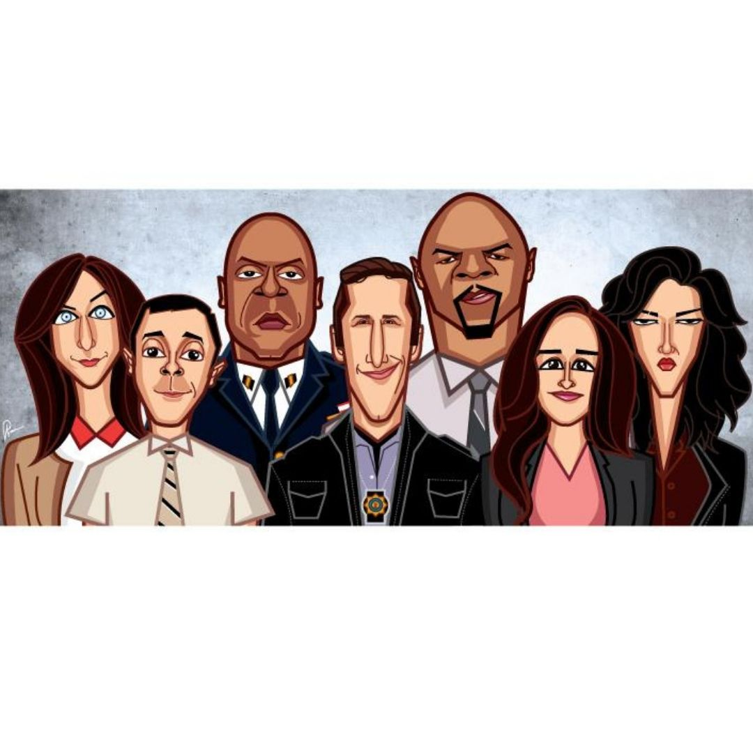 Brooklyn 99 Wall Art -Graphicurry - India - www.superherotoystore.com