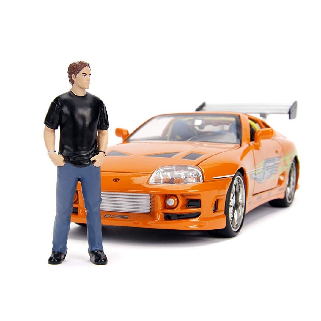 Hollywood Rides Fast & Furious 1:24 Scale Toyota Supra Die-Cast Car and Brian Figure by Jada Toys
