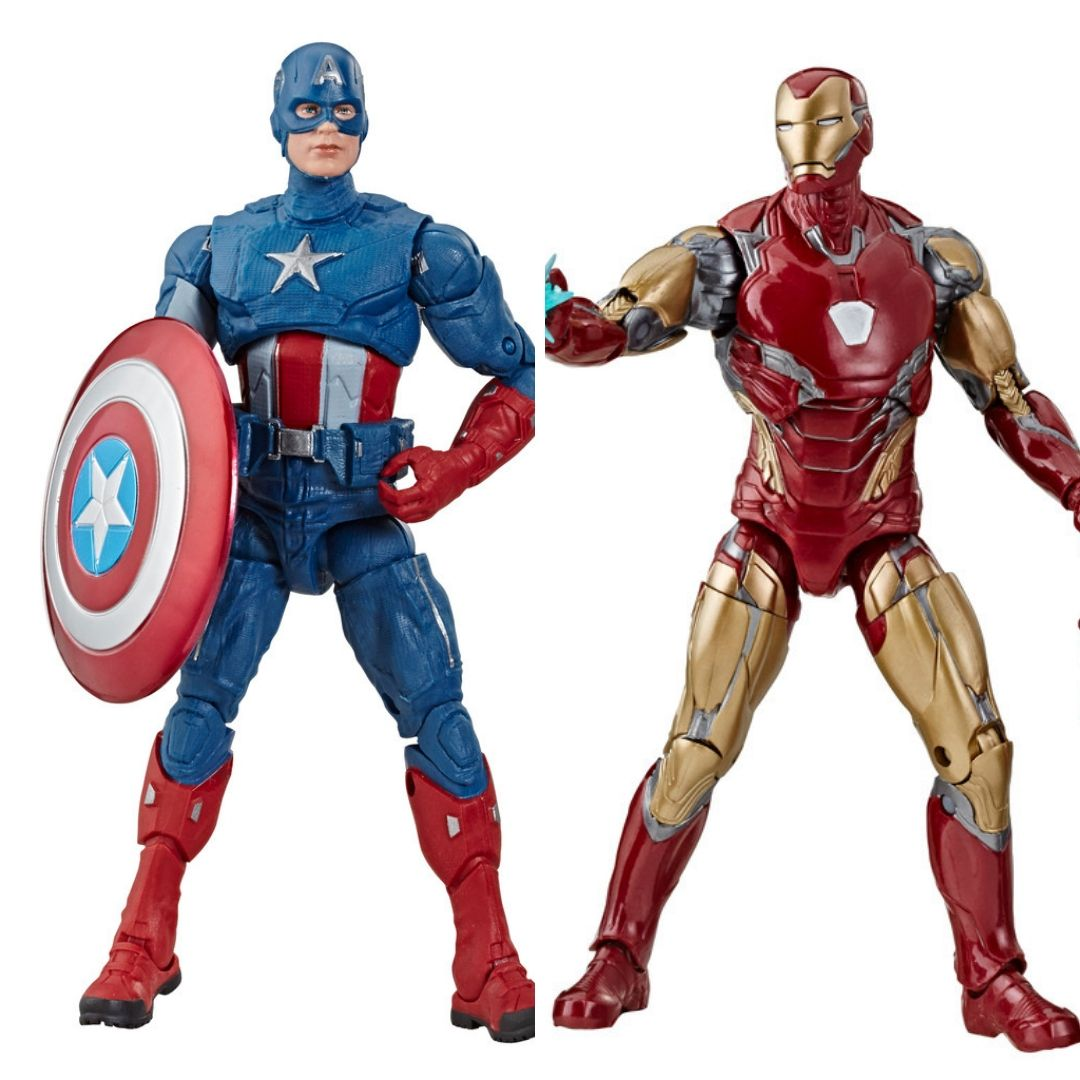Avengers Endgame: Captain America & Iron Man Marvel Legends Figures (Bro Thor BAF) by Hasbro