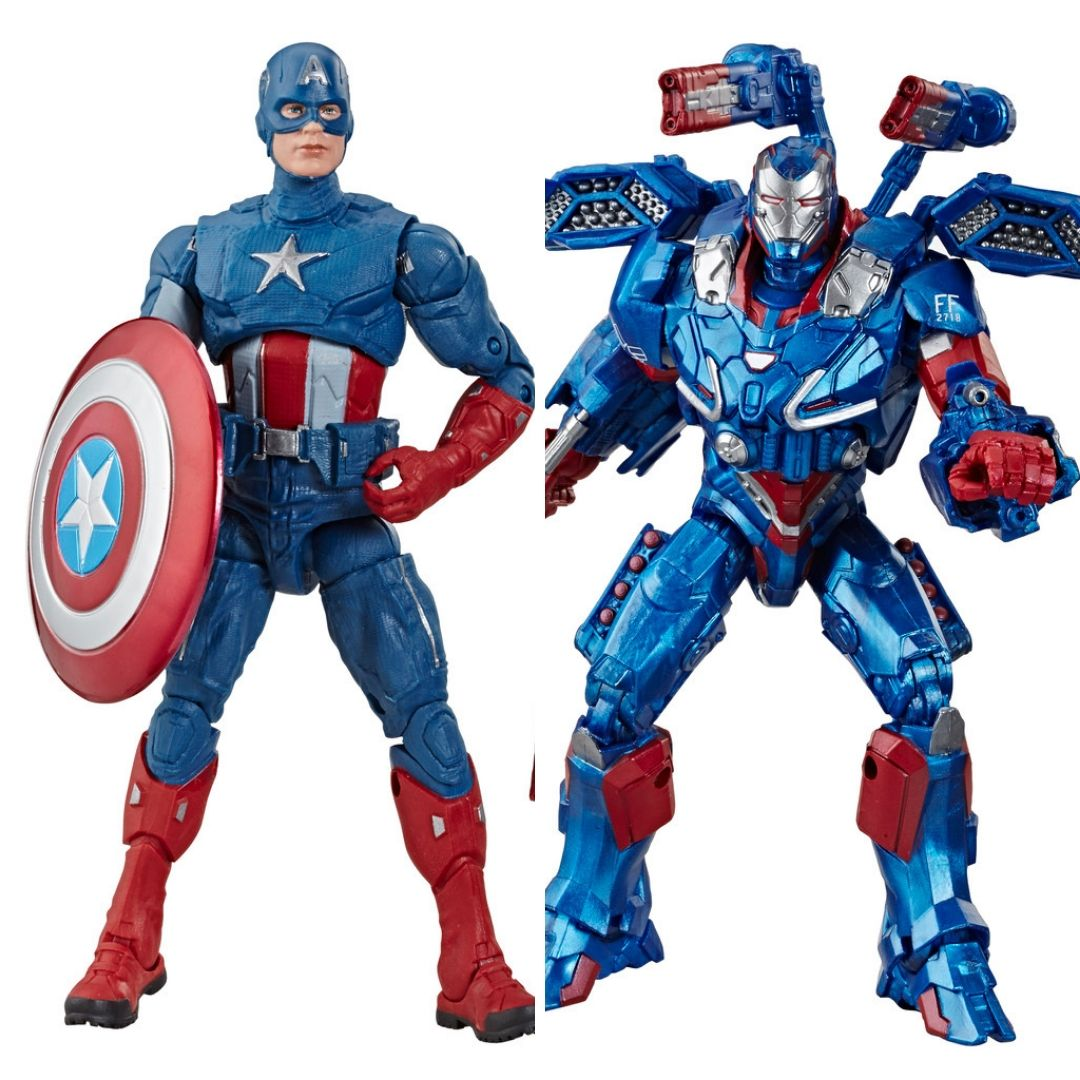 Avengers Endgame: Captain America & Iron Patriot Marvel Legends Figure (Bro Thor BAF) by Hasbro