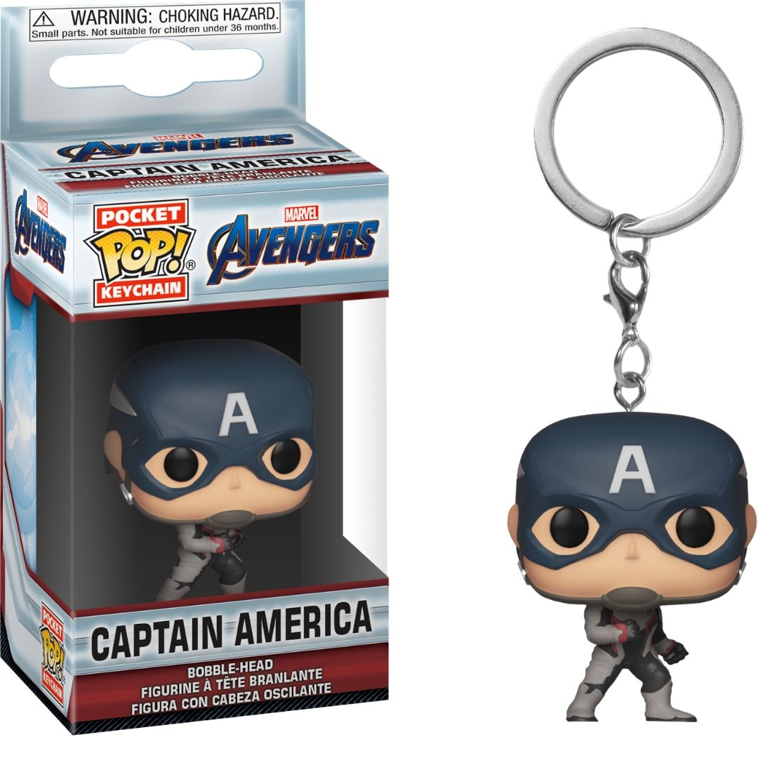 Avengers Endgame: Captain America Pocket Pop! Vinyl Keychain by Funko